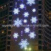 A decoração profissional do Natal do diodo emissor de luz do feriado exterior ilumina o floco de neve