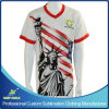 Plein T-shirt fait sur commande de sports collectifs d'impression de sublimation