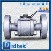 Válvula de esfera completamente furada contínua da flutuação da classe 1500 da esfera de Didtek API 6D