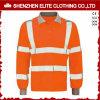 Olá! do desgaste reflexivo do trabalho do Vis laranja longa da camisa de polo da segurança da luva (ELTSPSI-19)
