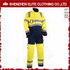 Tuta funzionante protettiva di poli sicurezza gialla fluorescente del cotone