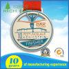 Medaglia corrente di sport di maratona del premio dell'oro del metallo dell'indennità su ordinazione