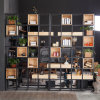 Estante de madera del estante del soporte del estante de acero de la cabina de los libros para la visualización