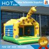 Castelo Bouncy do Giraffe pequeno inflável do brinquedo do jardim da família