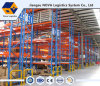 Blaues Hochleistungsfram und orange Träger-Ladeplatten-Zahnstange