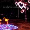 Decoraciones de la Navidad del diseño del corazón de la decoración de la iluminación del LED