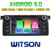 Reprodutor de DVD do Android 6.0 do núcleo de Witson oito para BMW E46