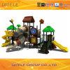 127mm galvanisiertes Pfosten-buntes luxuriöses Bogen-Brücken-und Haus-Dach-Kind-im Freienspielplatz-Gerät