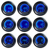 유니버설 2.5  60mm Digital Blue LCD Bar Racing Engine Oil Pressure Gauge Meters
