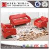 Sofà di cuoio rosso di svago del salone con i piedini d'acciaio (NS-S276)