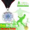 Entwurfs-ovales weiches Decklack-Firmenzeichen-römische Fußball-Fußball-Preis-Medaille