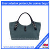 Designer Causal Canvas e Leather Hobo Shoulder Tote Bag Grande