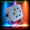 IGUALDAD sin hilos LED de la batería del cambio 6X18W Rgabwuv 6in1 del color
