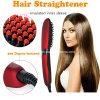 2016 novo chega o indicador do LCD da escova do Straightener do cabelo do aníon da escova do Straightener do cabelo da estrela da beleza de Nasv com calefator cerâmico