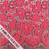 ピンクの花デザインレースファブリック