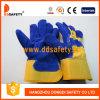 Перчатка Dlc226 Split голубой кожаный заварки коровы работая