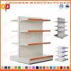 4 Reihe kundenspezifischer Supermarkt-doppelter seitlicher Bildschirmanzeige-Regal-Stahlstandplatz (Zhs519)