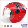 赤いスクーターまたはモーターバイクまたはオートバイの開いた表面ヘルメット(OP203)