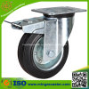 Industrielle Bremsen-Fußrolle mit 200mm Gummi-Rad