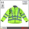 Куртка Softshell ленты Hivis безопасности водоустойчивая желтая