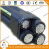 Кабель ABC Mv/воздушный связанный кабель, силовой кабель оболочки 15kv проводника XLPE AAAC наружный