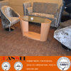 Mobília de madeira de vidro da mesa de centro oval