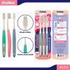 Erwachsene Zahnbürste mit schlanken Borsten 3 in 1 Wirtschaft-Satz 873