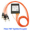 Splitter Fbt Biconic муфты стекловолокна коробки ABS ST/PC/Upc 0.9/2.0/3.0mm сплавленный муфтой мультимодный оптически