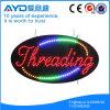 Óvalo de Hidly la Asia que rosca la muestra del LED