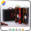 PUの革ワインボックスを包むカスタム印刷のロゴの高品質