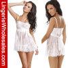 Mujeres más la ropa interior atractiva de la ropa interior blanca del cordón de la talla