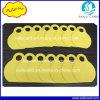 modifica animale del collo di colore giallo di 80*65mm con il contrassegno del laser