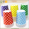 12oz Double Wall Polka Dots Paper Cups Hot Drinking Cup