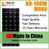 pila solare a energia solare monocristallina di energia solare del comitato solare 100W