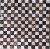 Mosaico di marmo di pietra scuro di Emperador delle mattonelle di mosaico (HSM119)