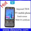 Certificat de la CE d'écran tactile de cartes du téléphone portable deux SIM d'Anycool TV (T818)