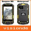 본래 IP67 Mkt6577는 내진성 방수 이동 전화 GPS 3G 인조 인간 나침의 Runbo 바위 중핵 Snopow M6 옥외 먼지 증거 이중으로 한다