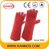 Heiße beständige Kuh-aufgeteiltes Leder-industrielle Sicherheits-Schweißens-Arbeits-Handschuhe (11107)