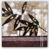 手のブラシの打撃のキャンバスの油絵-抽象的な葉(TP08-142)