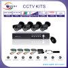 監視4CH CCTVシステム/CMOS 600tvl赤外線カメラ、4つのCH D1の立場DVRシステムキットだけ(5004S-4G)