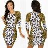 Reizvolle heißes reizvolles Kleid D2568 des Leopard-Nachtklub-Form-dünne Kleid-erstaunliche Kleid-dünne Sitz-Kleid-2015