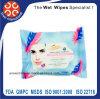 Usare facilmente eliminano i Wipes di pulizia femminili bagnati del dispositivo di rimozione di trucco