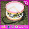El juguete de madera del tambor de la venta caliente 2015, juguete de madera del tambor, embromó el juguete de madera del tambor, tambor de madera W07j038 del instrumento