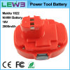 batterie de secours rechargeable 1822 de machine-outil de 2000mAh Makita