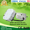 5years Warranty 100-277VAC 130lm/W ETL Listed 200W LED Retrofit Kits aan Replace 500W Mh/HPS