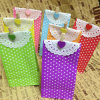 Buntes Kraftpapier Polka DOT Party Favor Bag mit Paper Doillies und Clamps