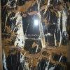 De binnen Marmeren Plakken van de Bloem van de Steen van de Decoratie Zwarte Gouden voor Countertop/Tegel