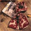 Шарф шерстей Knit зимы рождества женщин Multi-Color сделанный по образцу реверзибельный