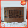 Gabinete de exhibición de madera de madera del vino del estante de exhibición