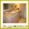 Granit Polished Vanitytop (YQC) de marbre de salle de bains de pierre normale